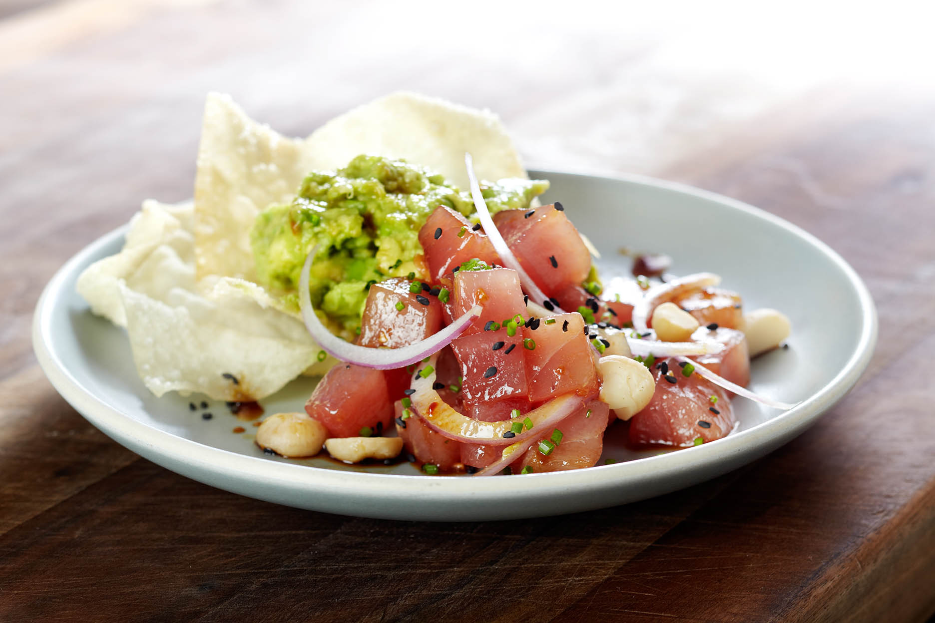 Ahi Tuna Salad with Avocado • Chef Warren Schwartz