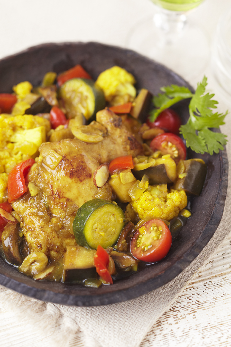 Moroccan Chicken and Garden Vegetable Stew