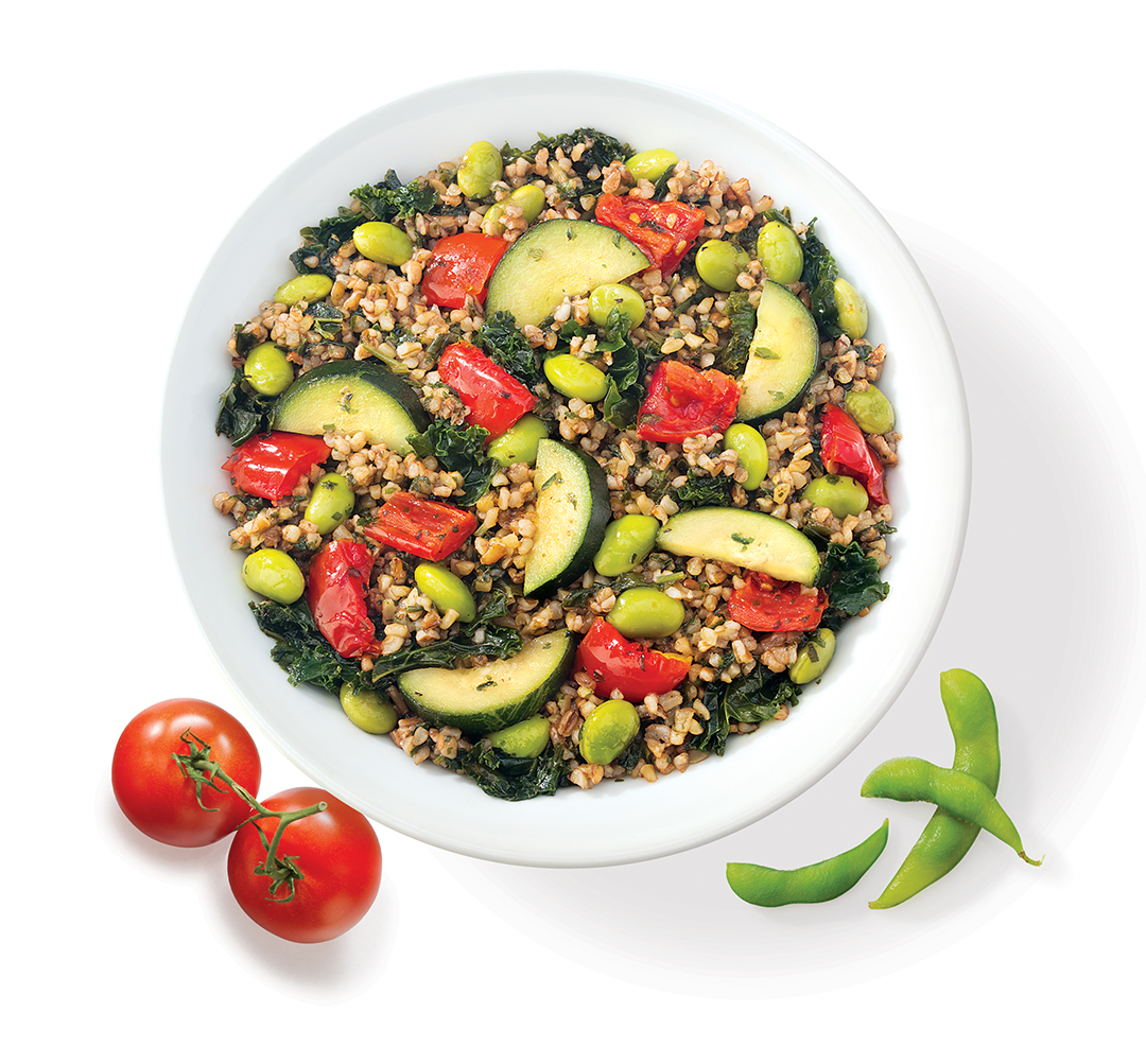 Luvo Foods • Bulgur Salad with Roasted Tomato and Edemame