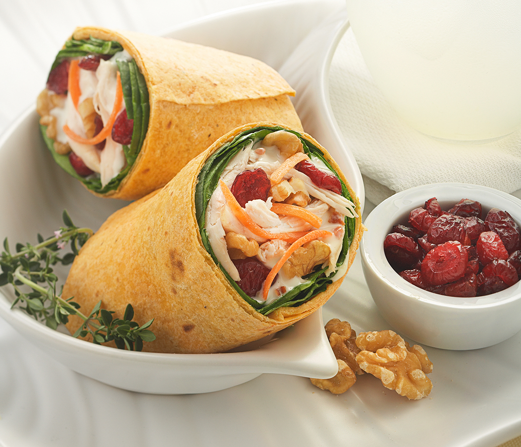 Chicken Carrot and Spinach Wrap