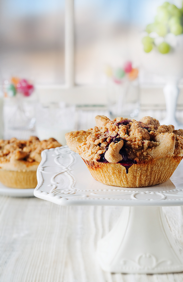 Blackberry Crumble Mini Pie