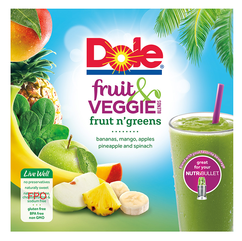 Dole Fruit and Veggie Blends Fruit n Greens Layout