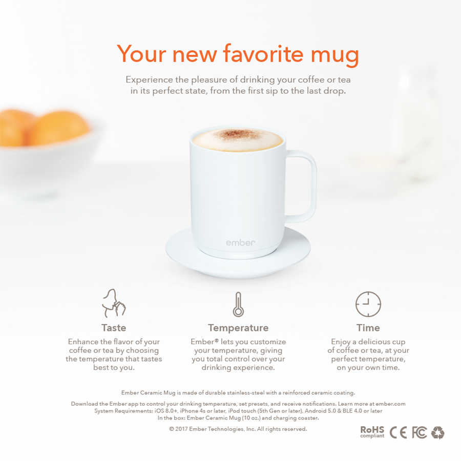 Ember White Mug Packaging