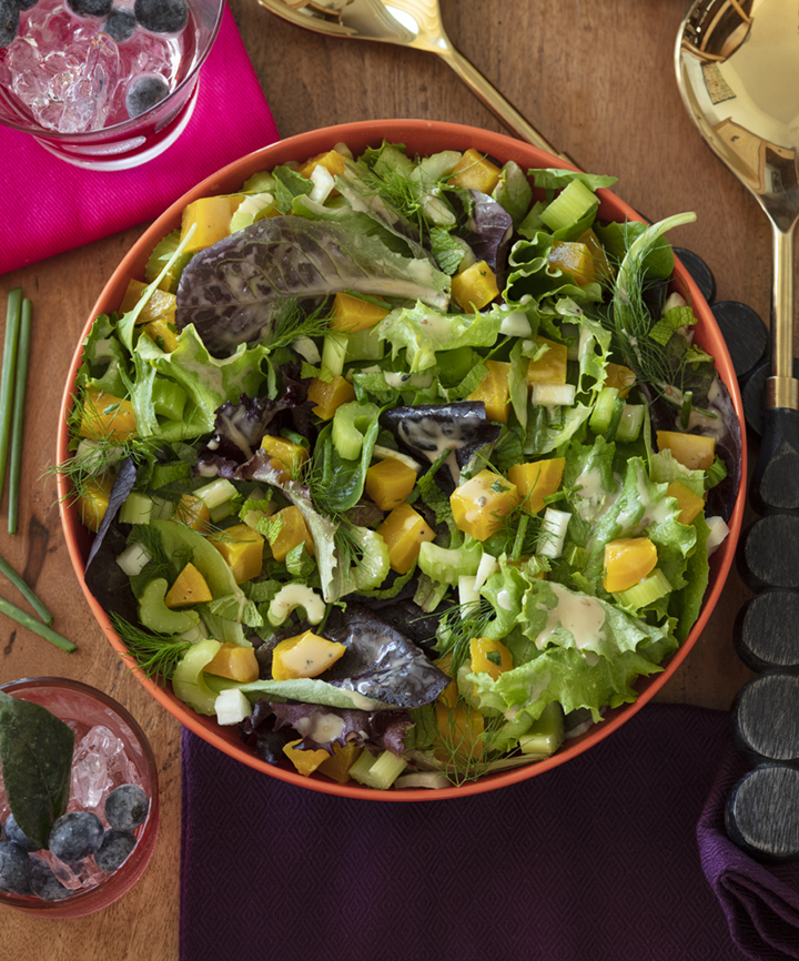 Apricot Blueberry Date Summer Salad