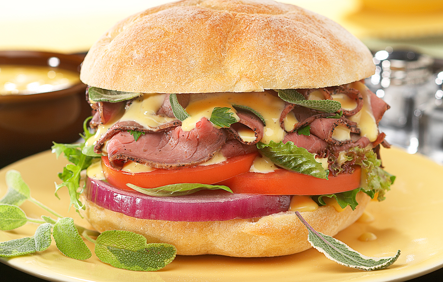 Honey Mustard Beef Sandwich