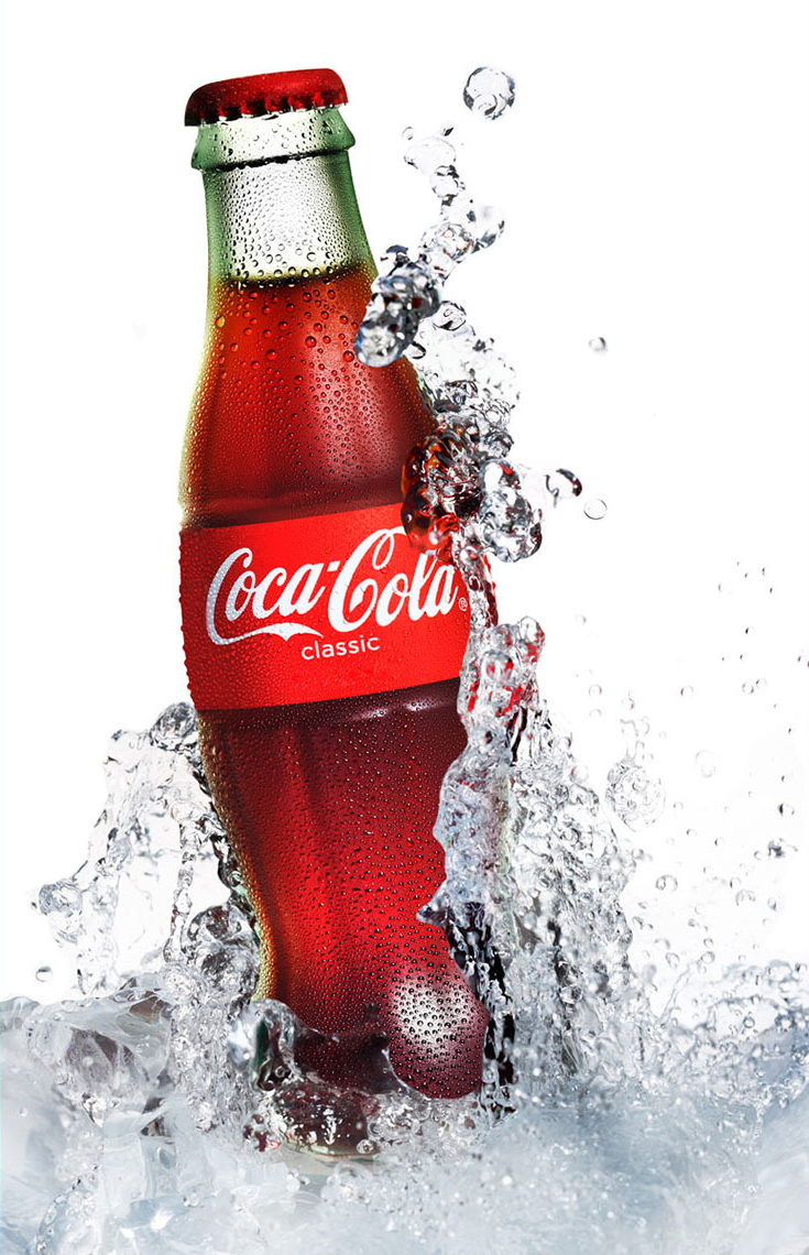 Coka Cola Bottle Splash
