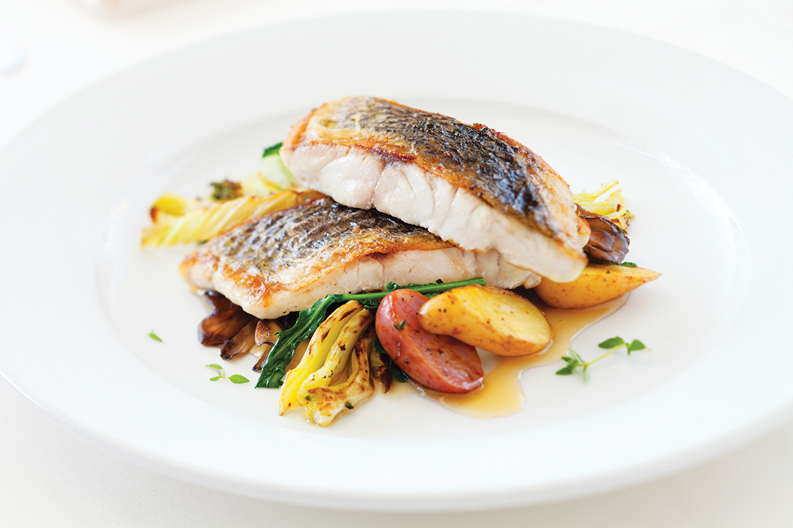 Sea Bass on Grilled Vegetables