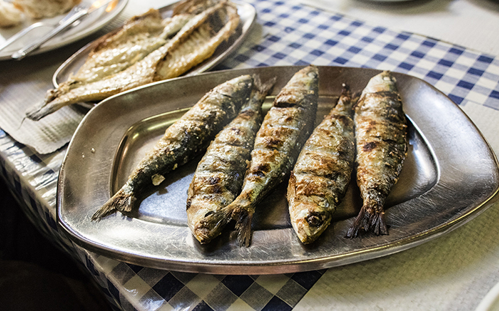 Grilled Sardines • Sintra, Portugal