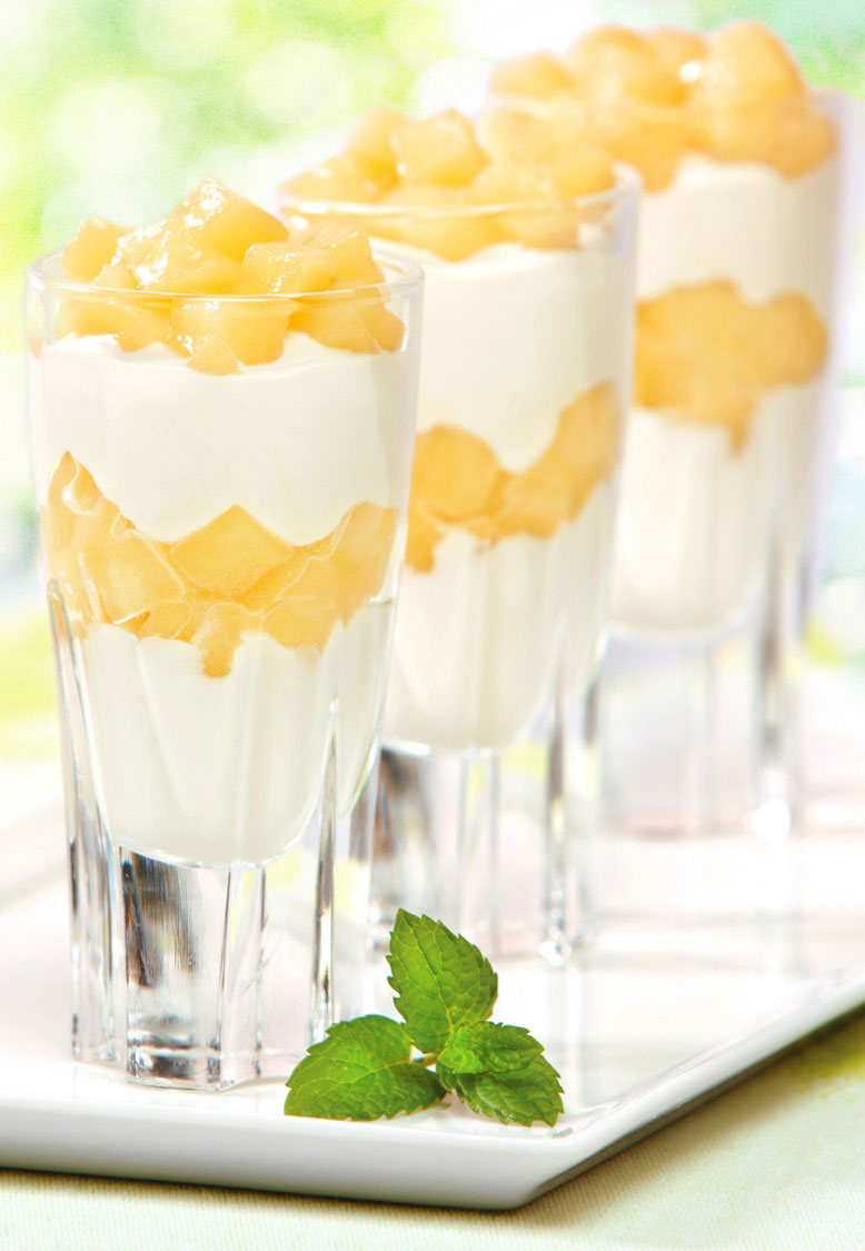 Layered Pineapple & Cream Dessert