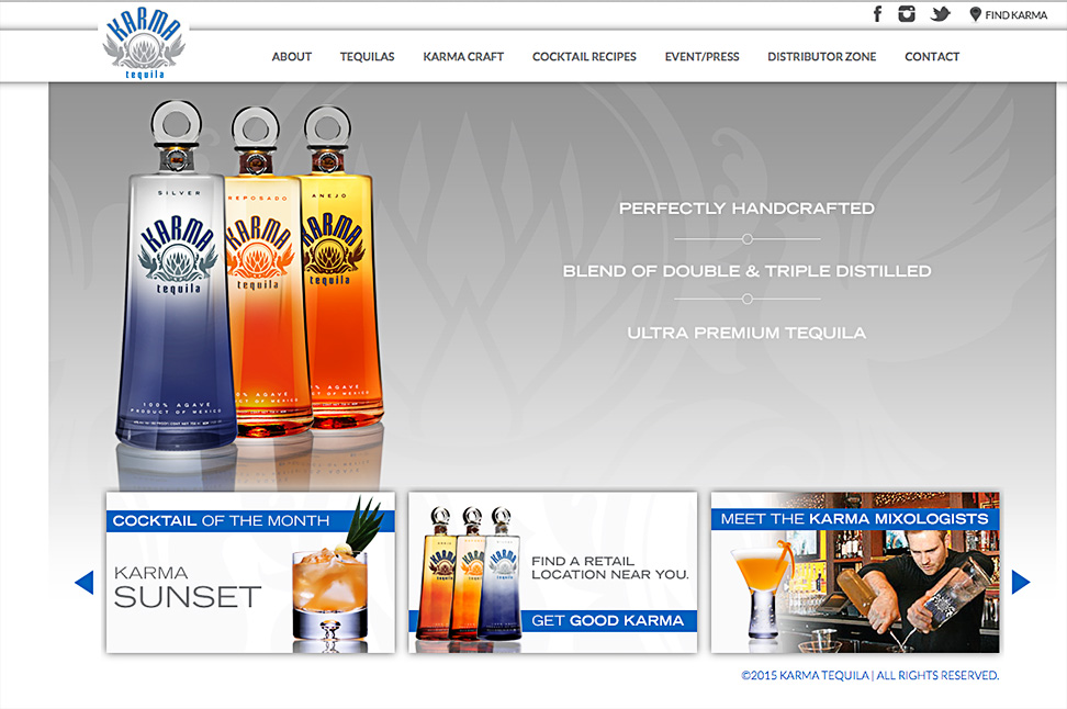 Work • Product • Karma Tequila • Web Ad