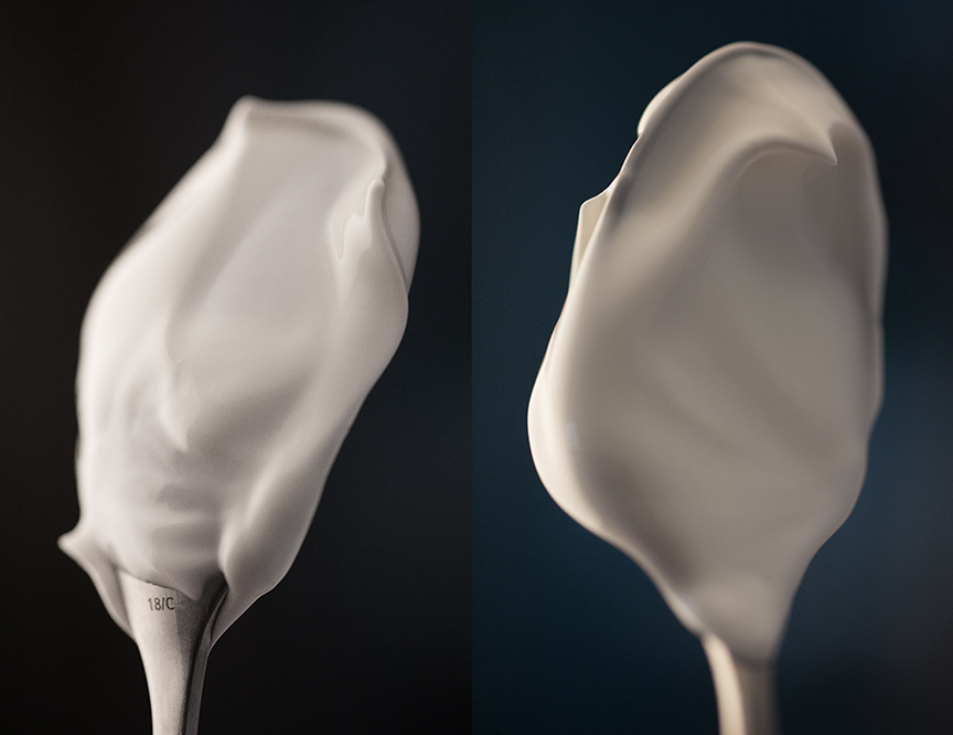 sour cream on spoon dual images